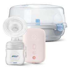 Philips Avent Odsávačka mateřského mléka elektronická Single SCF395 + DÁREK Philips Avent Sterilizátor do mikrovlnné trouby