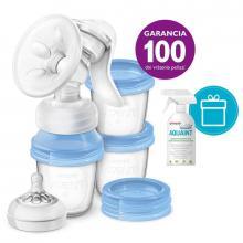 Philips Avent manuální odsávačka mateřského mléka Natural s VIA systémem + DÁREK Aquaint 100% ekologická čisticí voda 500 ml