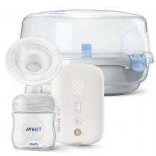 Philips Avent Odsávačka mateřského mléka elektronická Premium dobíjecí SCF396 + DÁREK Philips Avent Sterilizátor do mikrovlnné trouby