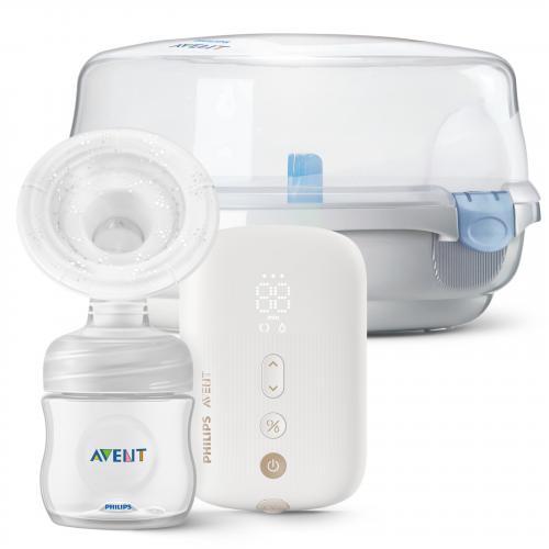 Philips Avent Odsávačka mateřského mléka elektronická Premium dobíjecí SCF396