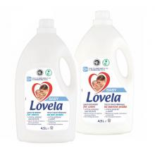 2x LOVELA Baby tekutý prací přípravek na bílé a barevné prádlo 4,5 l / 50 pracích dávek