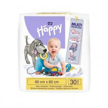 Bella Happy Dětské přebalovací podložky 60x60 cm, 30 ks
