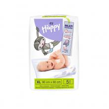 Bella Happy Dětské přebalovací podložky 60x90 cm, 5 ks