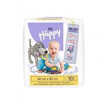 Bella Happy Dětské přebalovací podložky 60x60 cm, 10 ks