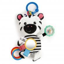 Baby Einstein Hračka aktivní na C kroužku ZEN zebra 0m+