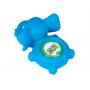 Zobrazuje teplotu vody koupele. Měření v °C. LED indikace připravenosti teploty dětské koupele (v rozpětí 38-42°C). Provedení modrý slon pro kluky.