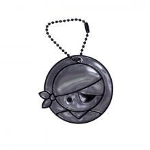 Glimmis reflexní přívěsek pirát jednooký černý