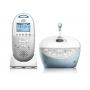 Philips Avent SDC580/00 s kvalitním oboustranným přenosem zvuku bez přeslechů, který vám usnadní monitorování vašeho dítě ve dne i v noci. Předností tohoto modelu je projekce noční oblohy v pokoji vašeho dítěte a přehrávání vaší vlastní ukolébavky.