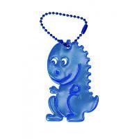 Glimmis reflexní přívěsek dráček modrý