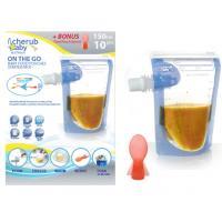 Cherub Baby obaly na dětské přesnídávky 10 ks + DÁREK lžička měnící barvu