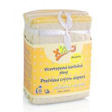 KIKKO Vícevrstvé plenky XKKO skládané, nebělené Natural - Newborn, 6 kusů