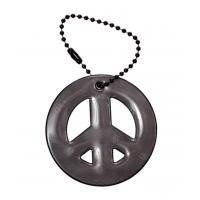Glimmis reflexní přívěsek symbol míru, černý