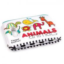 Canpol babies měkká knížka pískací s úchytem COLOURFUL ANIMALS