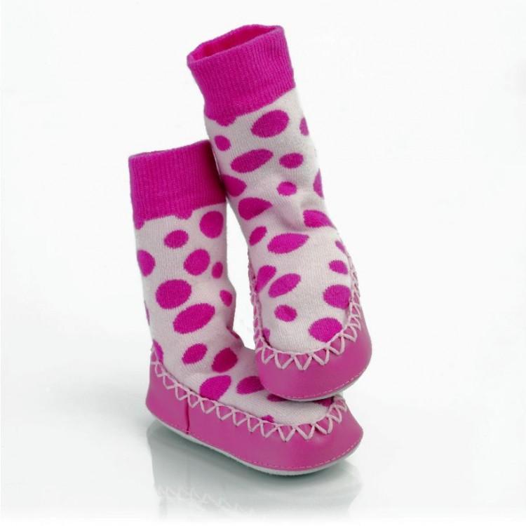 a72e18820a9 Tyto roztomilé ponožkové mokasíny ve stylu papučí zajistí malým prstíkům