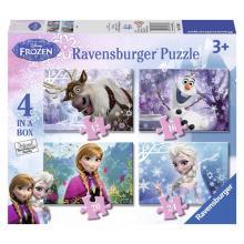Ravensburger puzzle Ledové království 4 v1 12/16/20/24 dílů
