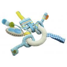 DUSHI Chrastítko klíče, modré