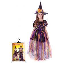 Karnevalový kostým čarodějnice, dlouhá sukně, vel. M
