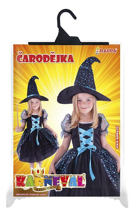 abc11f5f2 Parádní karnevalový kostým s motivem čarodějnice! Kostým modro-černé barvy  ve velikosti M je