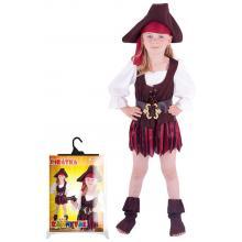 Karnevalový kostým pirátka, klobouk, boty, vel. M