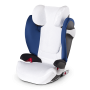 Originální letní potah od firmy Cybex pro autosedačky Pallas M(-fix) a Solution M(-fix) udržuje dítě v pohodlí a chladu během horkých letních dní.
