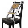Nastavitelná výška sedáku, instalace na běžnou židli. Sedák roste s dítětem! Sedačka s teleskopickým rámem pro správnou výšku sedáku! Malý a kompaktní, ideální pro cestování. Tento dítěti-přátelský booster sedák spojuje funkčnost s moderním designem.