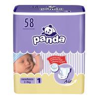 Panda Newborn (2-5 kg) 58 ks - jednorázové pleny
