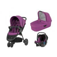 Kočárek Britax B-Agile 3 s hlubokou korbou a autosedačkou Baby-Safe plus