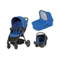 Kočárek Britax B-Agile 4 s hlubokou korbou a autosedačkou Baby-Safe plus