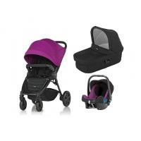 Kočárek Britax B-Agile 4 Plus s barevným setem, hlubokou korbou a autosedačkou Baby-Safe plus