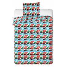 Jerry Fabrics povlečení do postýlky Cars kids blue 130x90 cm