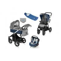 Kočárek Baby Design Husky v zimní výbavě + autosedačka Baby Design Leo