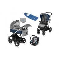 Kočárek Baby Design Husky v zimní výbavě + autosedačka Cybex Aton Silver Line