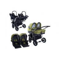 Kočárek DorJan Danny Sport Twin Linen + 2x autosedačka Maxi-Cosi + adaptér