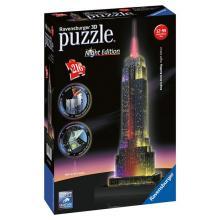 Ravensburger puzzle Empire State Building 3D - noční edice 216 dílků