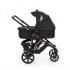 V ceně kočárku je konstrukce v černém provedení včetně nákupního košíku, sportovní sedačka v černém provedení + hluboká korba Salsa + autosedačka ABC Design Risus včetně adaptérů pro připevnění na kočárek Salsa.