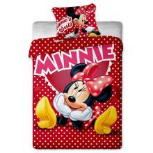 Jerry Fabrics Bavlněné povlečení Minnie hearts 2015 140x200 cm