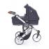 V ceně kočárku je podvozek ve světlém provedení včetně nákupního košíku, sportovní sedačka včetně sluneční stříšky, hluboká korba a autosedačka Cybex Aton Silver Line včetně adaptérů pro připevnění na kočárek Cobra Plus.