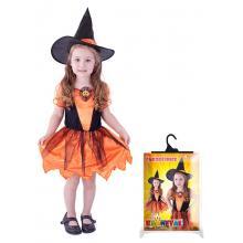Karnevalový kostým čarodějnice dýňová, vel. M