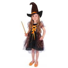 Karnevalový kostým čarodějnice/halloween hvězdička, vel. S