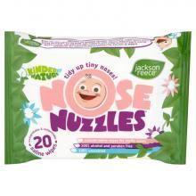 Jackson Reece Vlhčené kapesníčky na rýmu Nose Nuzzles (bio) 20 ks