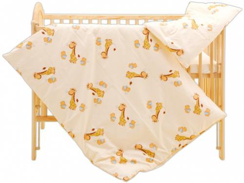 Scarlett povlečení do postýlky 2dílné - Žirafa žlutá 120x90 cm