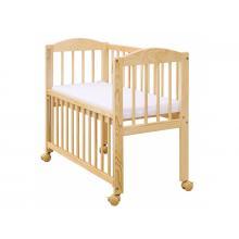 Scarlett Dětská postýlka k posteli rodičů Baby přírodní, stahovací bok, borovice