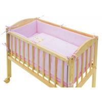 Scarlett povlečení do postýlky 7dílné Baby mini - Méďa růžový 80x80 cm