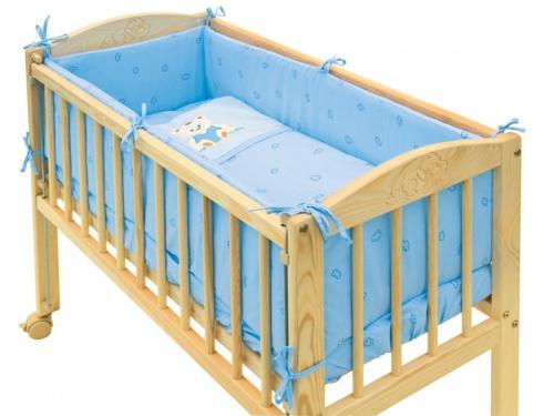 Scarlett povlečení do postýlky 7dílné Baby mini - Méďa modrý 80x80 cm