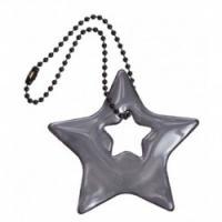 Glimmis reflexní přívěsek hvězda černá