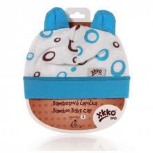 Kikko čepička XKKO BMB Spirals&Bubbles Cyan Bubbles