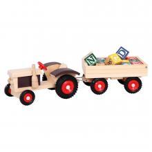 Bino Traktor s gumovými koly a vlekem