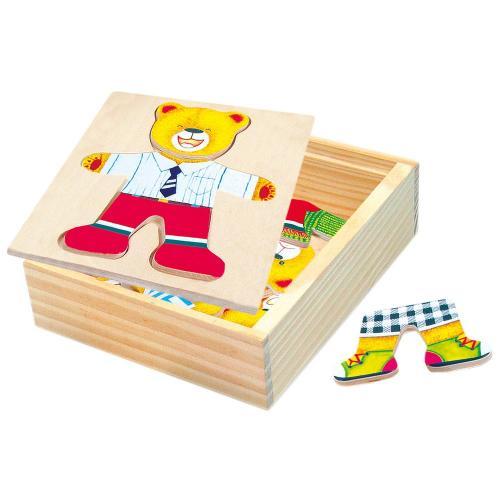 Bino Puzzle - šatní skříň - medvídek