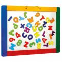 Bino Magnetická závěsná tabule s písmenky, oboustranná