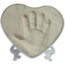 Happy Hands 2D Heart Silver/White - sada pro otisk